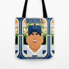 Baseball Blue Pinstripes - Deuce Crackerjack - Indie version Tote Bag