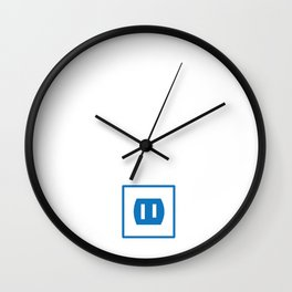 EG Electric Outlet Wall Clock