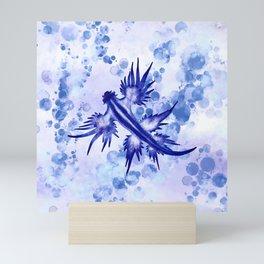 Blue Dragon Sea Slug Mini Art Print