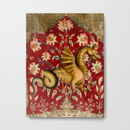 Coiled Dragon - Garden of Beasts Collection Metal Print