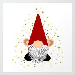 Santa - Gnome Art Print