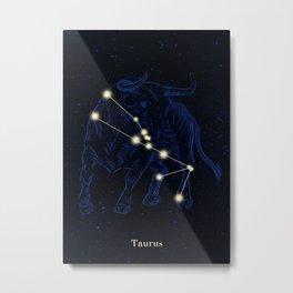 Zodiac constellations — Taurus Metal Print