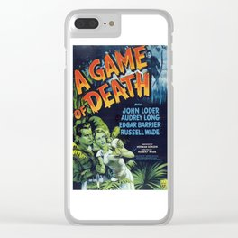 A Game of Death, vintage horror movie poster Clear iPhone Case