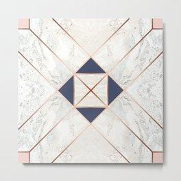 Copper & Marble & Pastel 06 Metal Print