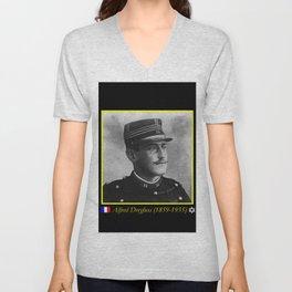 Aaron Gerschel- Portrait of Alfred Dreyfus Unisex V-Neck