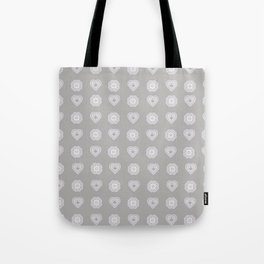 Gray heart and elephant foot symbols Tote Bag