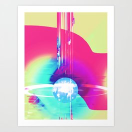 corrupt colorful star Art Print