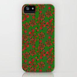 Ladybug in green iPhone Case