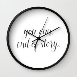 You can. End of story. Wall Clock