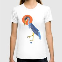 crane T-shirts featuring Japanese Crane by Christian G. Marra