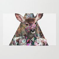 ariana grande Area & Throw Rugs featuring ▲BOSQUE▲ by Kris Tate