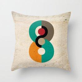 Geometric Scandinavian Art Throw Pillow