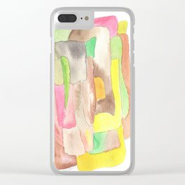 171013 Invaded Space 9|abstract shapes art design |abstract shapes art design colour Clear iPhone Case