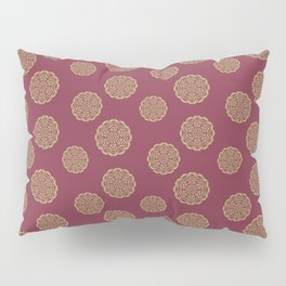 Red Currant and Lime Mandalas Pillow Sham