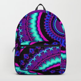turquoise purple Mandala Backpack