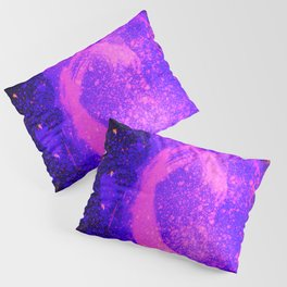 Vivid Violet Purple Abstract Splatter Painting Pillow Sham