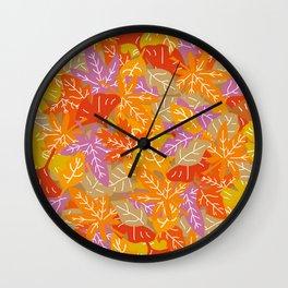 Autumn Leaves_I Wall Clock