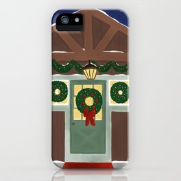 Rustic Christmas Night iPhone Case