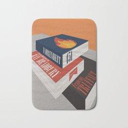 Fahrenheit 451, François Truffaut, minimal movie poster, french film, Ray Bradbury, book Bath Mat