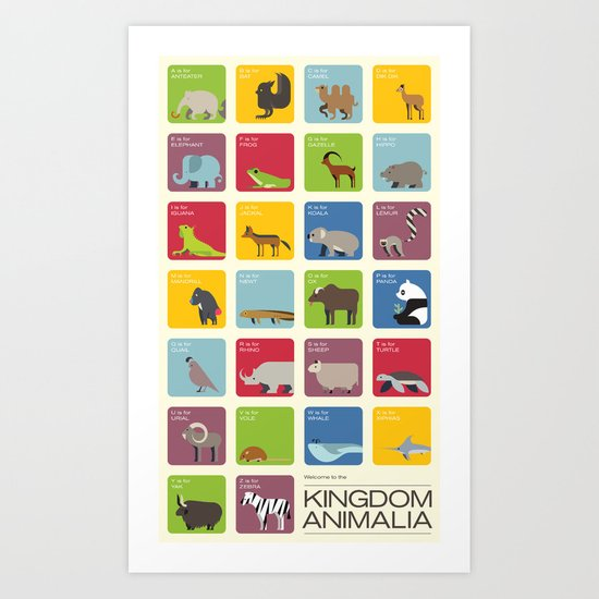 The Kingdom Animalia Art Print
