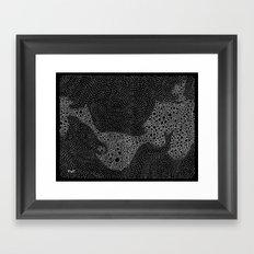 the mole's hyperacidity | black Framed Art Print