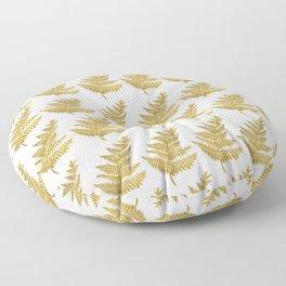 Gold Fern Leaf Floor Pillow