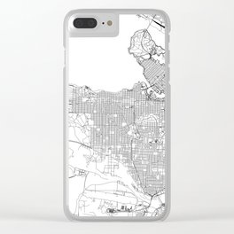 Vancouver White Map Clear iPhone Case