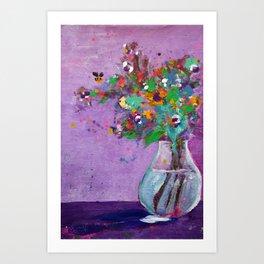 Flower Arrangement in Vase #1 Art Print