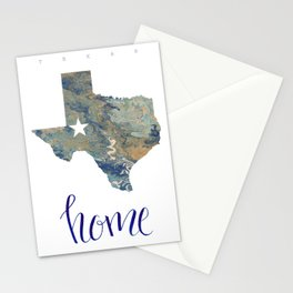 Is Texas Your Home, state of Texas, home typography Stationery Cards