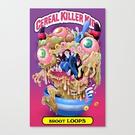 Cereal Killer Kids: Broot Loops Canvas Print