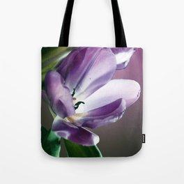 Violett Tulips Tote Bag