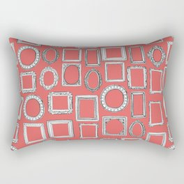picture frames coral Rectangular Pillow