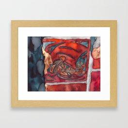 Viking Tile Framed Art Print