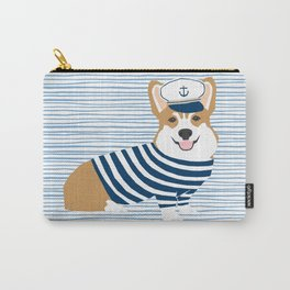 Corgi nautical sailor costume dog breed gifts welsh corgi dog lovers Carry-All Pouch