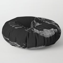 Monster from the Space Floor Pillow