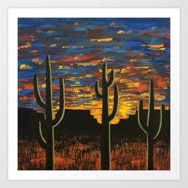 Brilliant Southwest Sunset Art Print