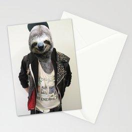 Punk Sloth Stationery Cards