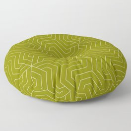 Olive - green - Modern Vector Seamless Pattern Floor Pillow