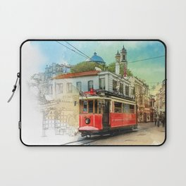 Old tram in Istanbul Laptop Sleeve