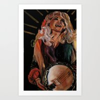 dolly parton Art Prints featuring The Ecstasy of Dolly Parton 2 by Caitlin Harper
