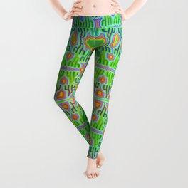 h - pattern 2 Leggings