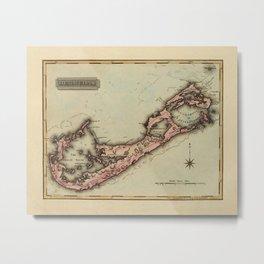 Map of Bermuda 1823 Metal Print