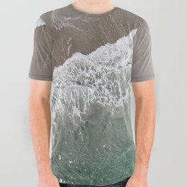 Wrightsville Beach Waves All Over Graphic Tee