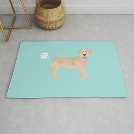 Yellow Lab funny fart dog breed gifts labrador retrievers Rug