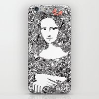 mona lisa iPhone & iPod Skins featuring Mona Lisa by Gribouilliz