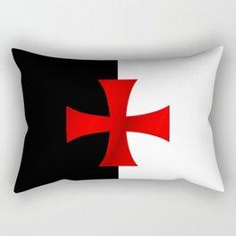 Dual color knights templar red cross Rectangular Pillow