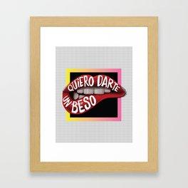 Quiero Darte Un Beso Framed Art Print