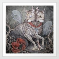 caitlin hackett Art Prints featuring Forget Me Not by Caitlin Hackett