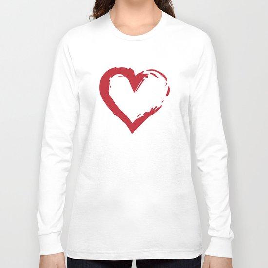 Heart Shape Symbol Long Sleeve T-shirt