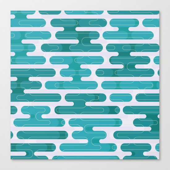 Modern japanese pattern. Canvas Print